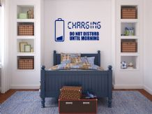 'Charging, Do Not Disturb...' Wall Art Sticker, Self Adhesive, Transfer, Decal